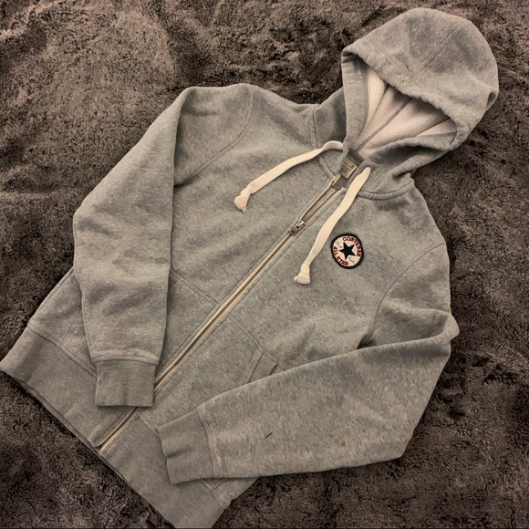 Converse zip-up hoodie sweater